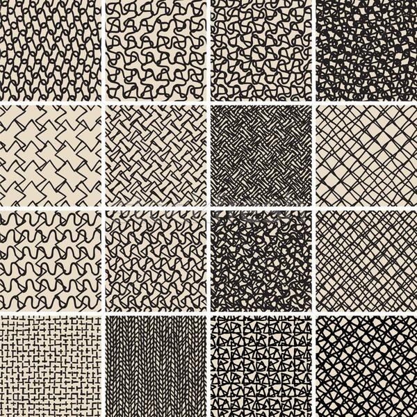 Básico rabisco conjunto preto e branco coleção Foto stock © VOOK