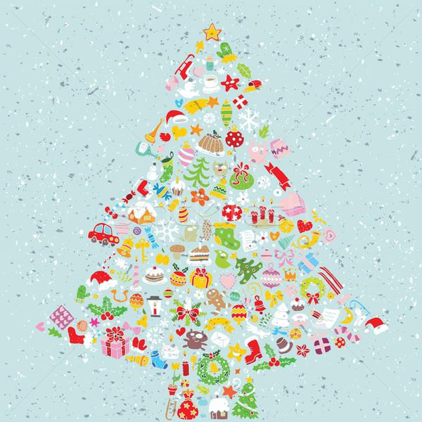 Albero di natale piazza carta raccolta piccolo Natale Foto d'archivio © VOOK