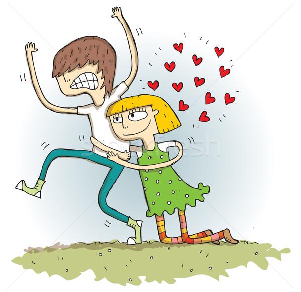 Desenho animado ilustração eps10 vetor amor fundo Foto stock © VOOK