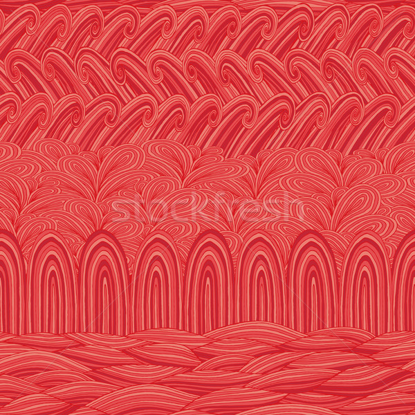 Természetes végtelen minta színek kézzel rajzolt illusztráció eps8 Stock fotó © VOOK