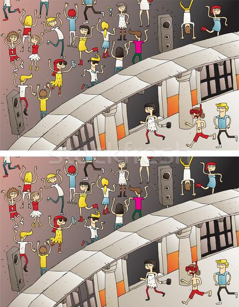 Strony wejście różnice gry zadanie odnaleźć Zdjęcia stock © VOOK