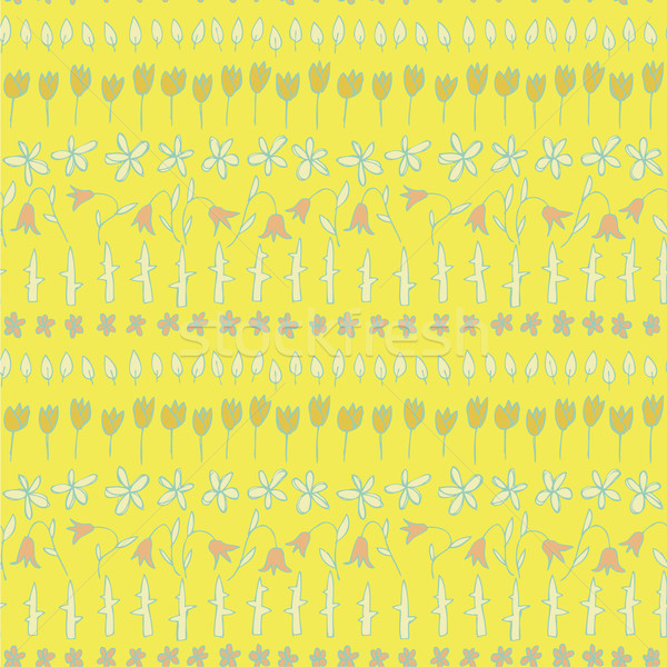 Floral Seamless Strips Pattern Stock photo © VOOK