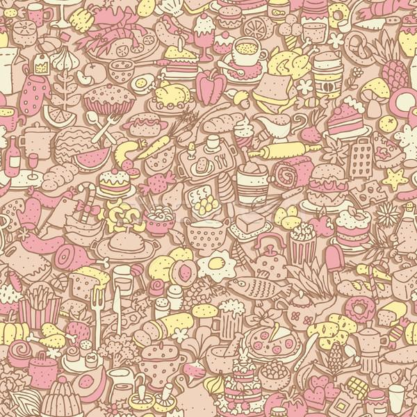 Food seamless pattern  Stock photo © VOOK