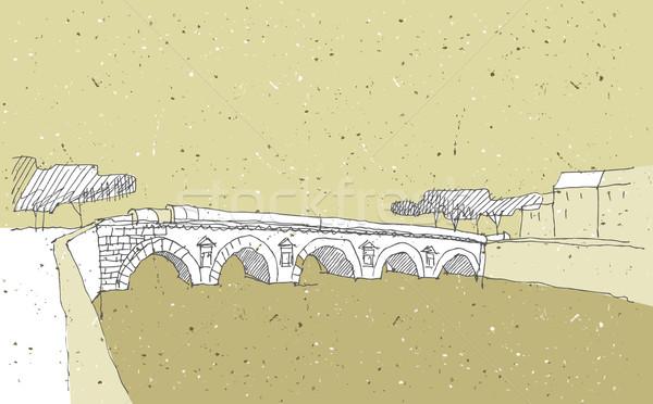 Arquitectura histórica Italia puente ilustración eps8 vector Foto stock © VOOK