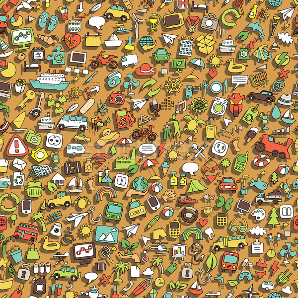 Symbols seamless pattern Stock photo © VOOK