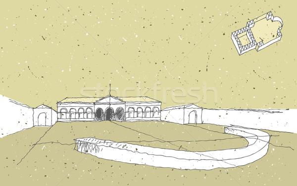 Arquitectura histórica Italia palacio ilustración eps8 vector Foto stock © VOOK