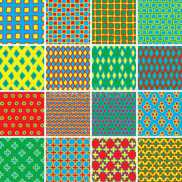 Fundamenteel doodle ingesteld kleuren collectie Stockfoto © VOOK