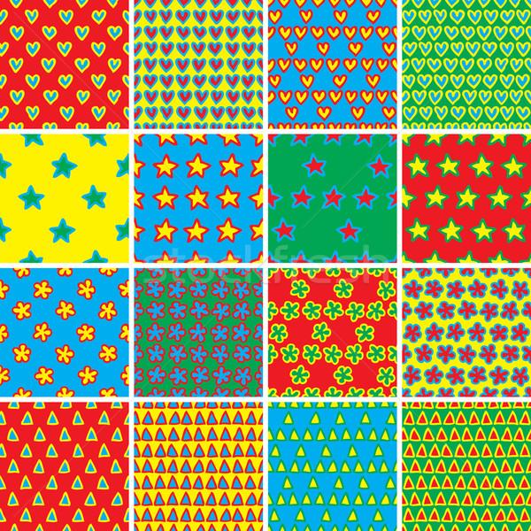 Podstawowy gryzmolić zestaw kolory kolekcja Zdjęcia stock © VOOK