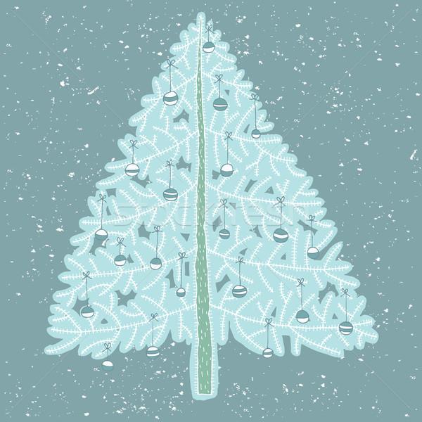 Grunge Christmas Tree No. 4 Stock photo © VOOK