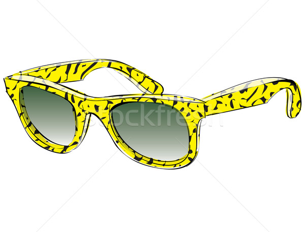 Retro Sunglasses With Pattern Doodle isolated on white backgroun Stock photo © VOOK