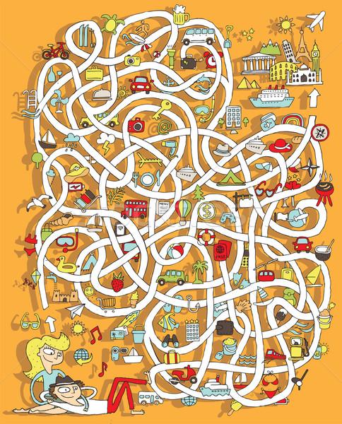 путешествия лабиринт игры решения скрытый слой Сток-фото © VOOK