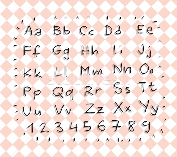 Basit alfabe sayılar gölgeler örnek Stok fotoğraf © VOOK