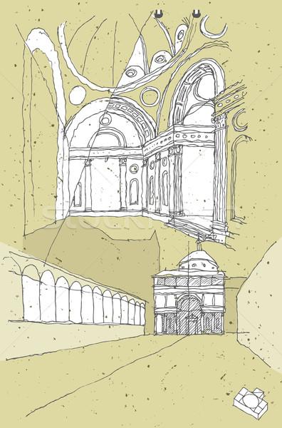 Arquitectura histórica Italia Florencia Toscana ilustración eps8 Foto stock © VOOK