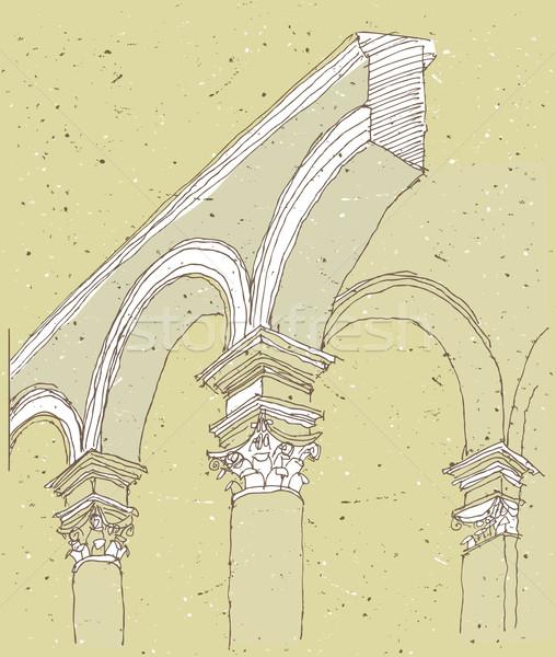 Arquitectura histórica Italia detalle ilustración eps8 vector Foto stock © VOOK