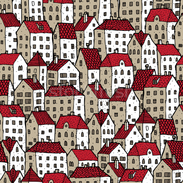 City seamless pattern in colours  Stock photo © VOOK