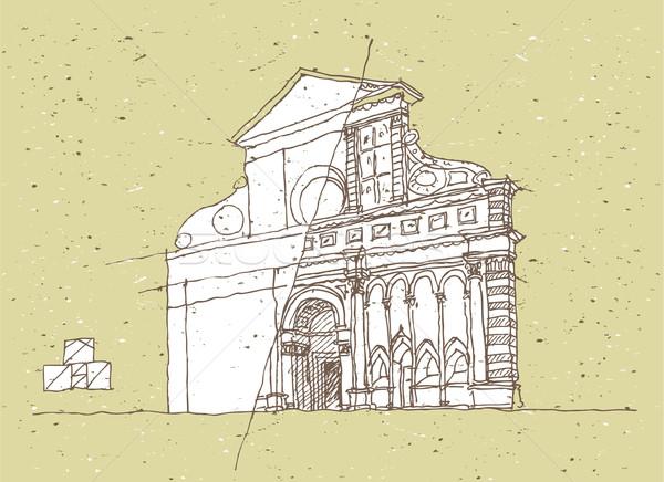 Arquitetura histórica Itália florence toscana ilustração eps8 Foto stock © VOOK