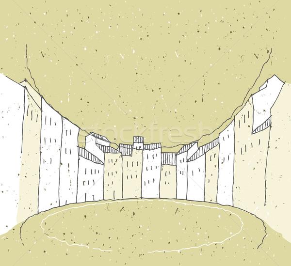 Arquitetura histórica Itália cidade ilustração eps8 vetor Foto stock © VOOK