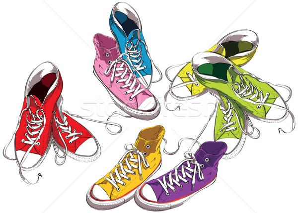 Sneakers Set in Colors  Stock photo © VOOK