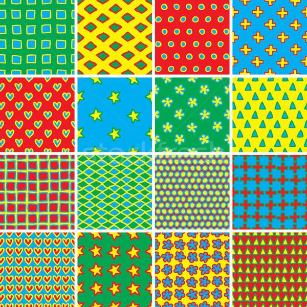 Básico rabisco conjunto cores coleção Foto stock © VOOK