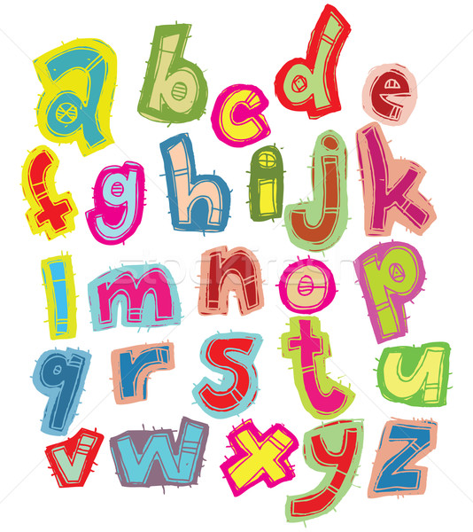 Hand drawn Trendy Font  Stock photo © VOOK