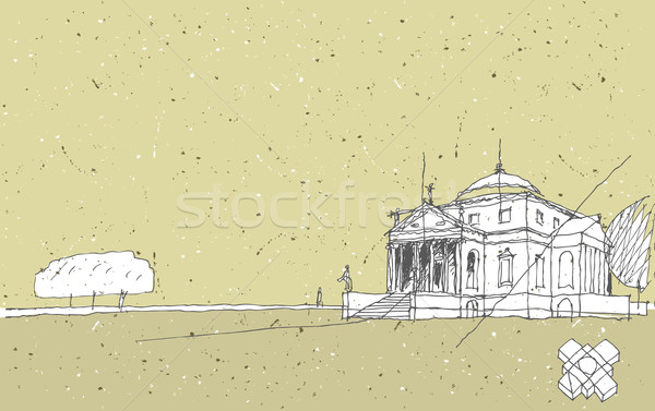 Sketching Historical Architecture in Italy Stock photo © VOOK
