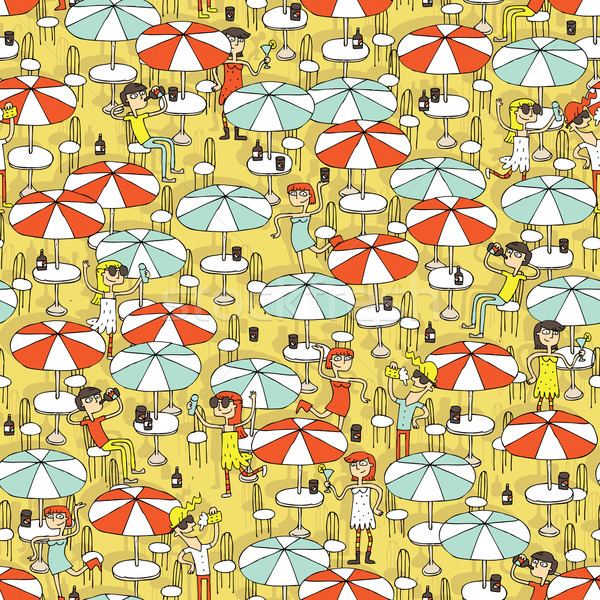 Beach bar seamless pattern Stock photo © VOOK