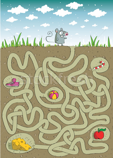 Mouse and Cheese Maze Game  Stock photo © VOOK