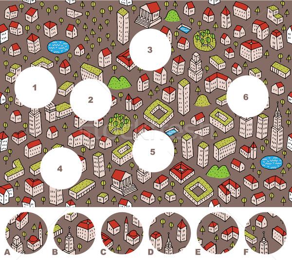 Foto stock: Combinar · peças · jogo · responder · ilustração · eps8