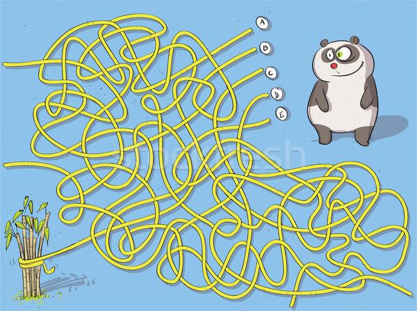 Panda labirinto jogo crianças ilustração Foto stock © VOOK