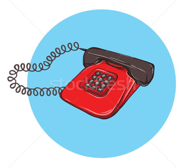 Vintage Telephone No.8, handset on Stock photo © VOOK