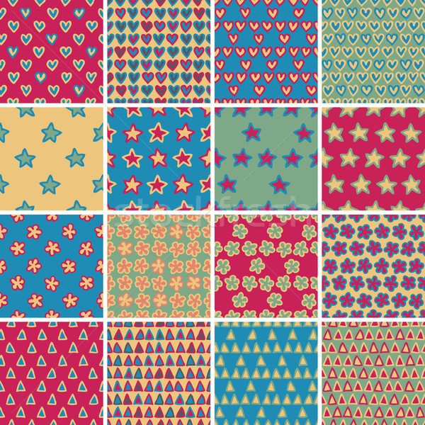 Textile seamless pattern SET No.4  Stock photo © VOOK