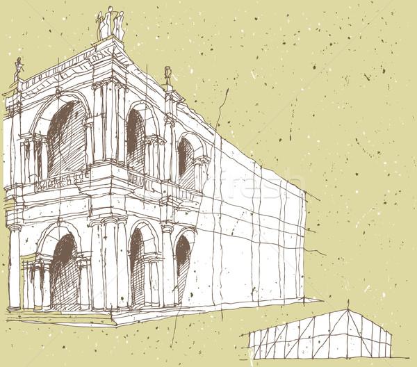 Arquitectura histórica Italia ilustración eps8 vector ciudad Foto stock © VOOK