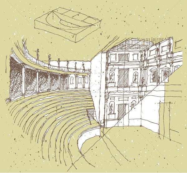 Arquitectura histórica Italia teatro ilustración eps8 vector Foto stock © VOOK