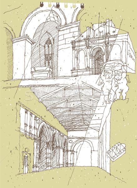 Arquitetura histórica Itália ilustração eps8 vetor textura Foto stock © VOOK