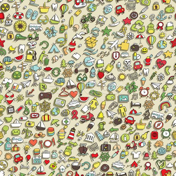 мини болван иконки Сток-фото © VOOK