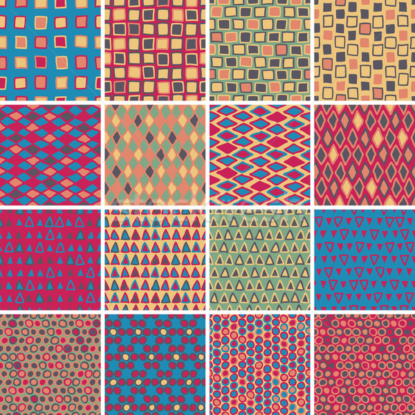 Textile seamless pattern SET No.7 Stock photo © VOOK