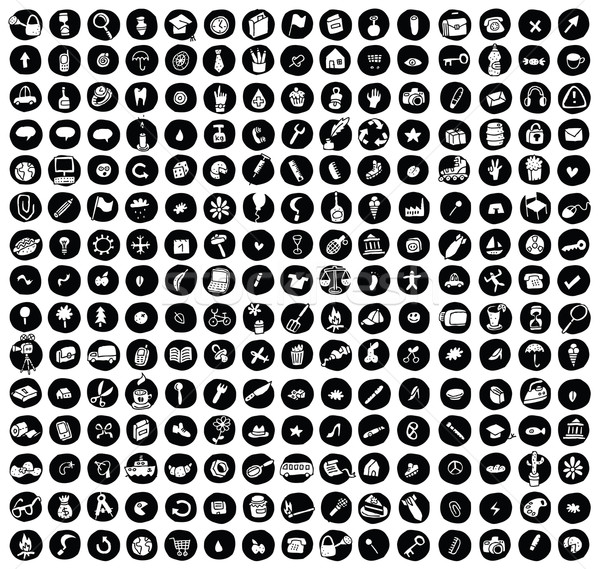 Collection of 225 doodled icons for every ocasion  Stock photo © VOOK