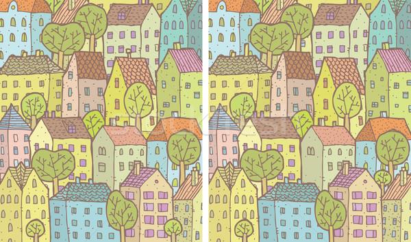 Cidade diferenças jogo tarefa encontrar 10 Foto stock © VOOK