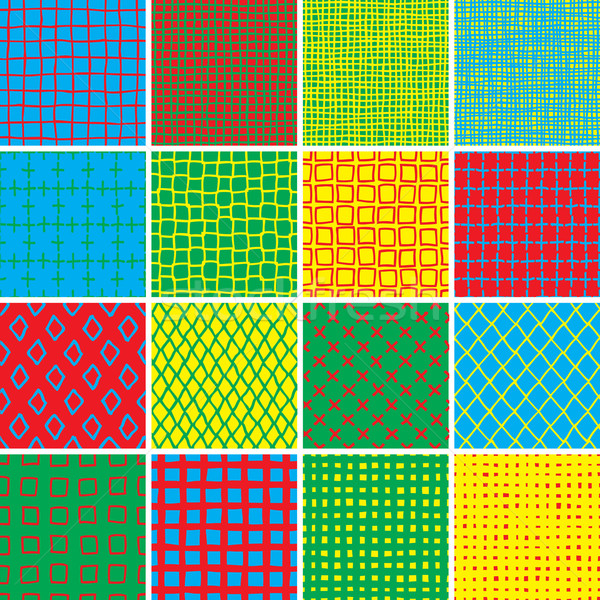Basic Doodle Seamless Pattern Set No.7 in colors Stock photo © VOOK