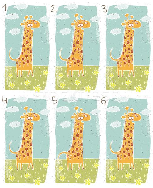 Happy Giraffe Visual Game Stock photo © VOOK