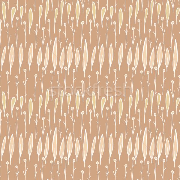 трава бесшовный шаблон повторяющихся коричневый иллюстрация Сток-фото © VOOK