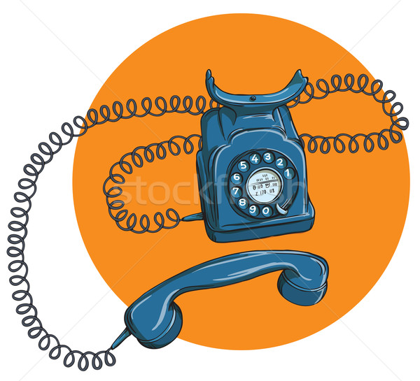 Vintage Telephone No.1, handset off Stock photo © VOOK