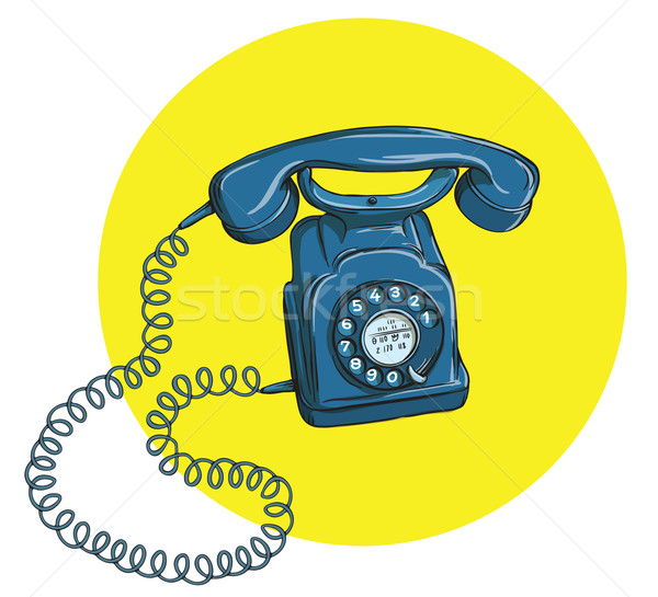 Vintage Telephone No.5, handset on Stock photo © VOOK