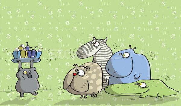 Dieren groene illustratie eps10 vector Stockfoto © VOOK