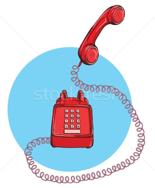 Bağbozumu telefon yukarı örnek eps10 Stok fotoğraf © VOOK