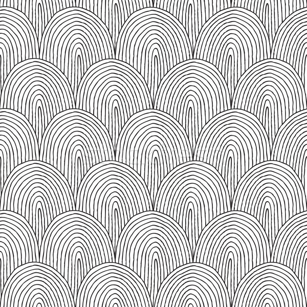Landscape Hillside seamless pattern in black and white  Stock photo © VOOK