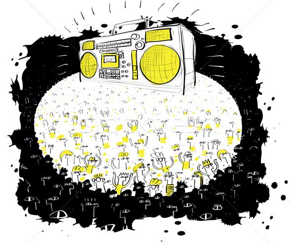 Massa concerto enorme estrondo caixa ilustração Foto stock © VOOK