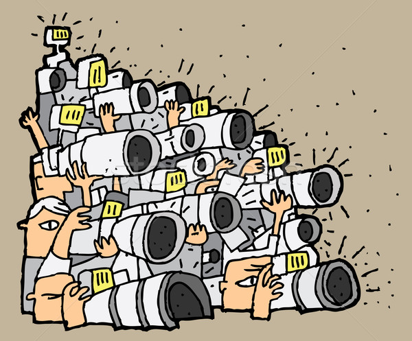 Paparazzi cartoon illustration eps8 vecteur sourire Photo stock © VOOK
