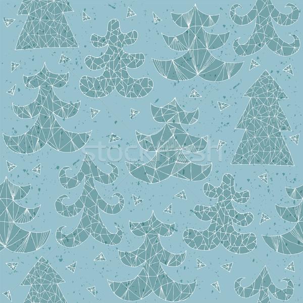 Stock fotó: Karácsony · fák · gyűjtemény · minta · különböző · stílusok