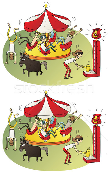 Circus Differences Visual Game Stock photo © VOOK